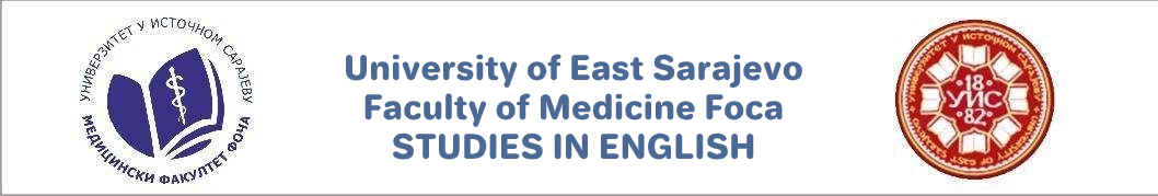 Faculty of Medicine Foca - Studies in English